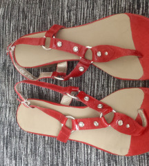 *400*Kako novi ramni crveni sandali 40/41
