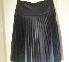 Satenska plisirana suknja
