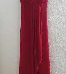 Dolg sexy crven fustan
