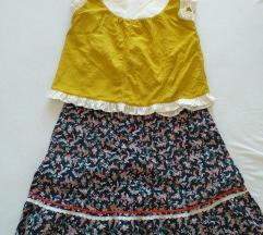 Ретро комплет сукња и кратко маиче