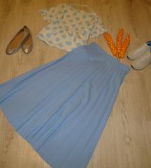 Dolga plise suknja