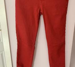 Црвени фармерки со нитни