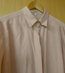 Pudra roze 100% svila kosula L/XL