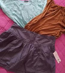 Dve bluzicki + Texas suknja-Eftino,Novo