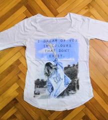 Bershka маица со долги ракави