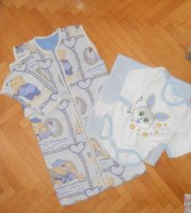 Komplet za bebe (vrekicka,bodi,carsavce)
