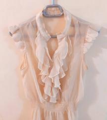 нежно розева блуза
