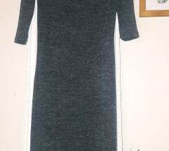 Нов зимски тесен фустан до колена С/М