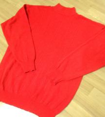 Crvena volnena polurolka L/XL