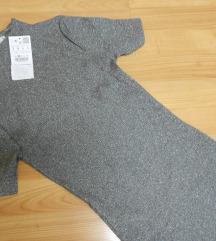 SO ETIKETA Pull&Bear srebren fustan