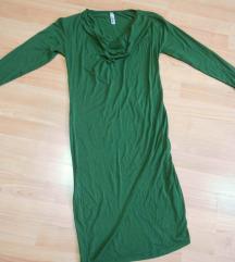 Zelen elasticen fustan