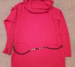 crvena elegantna bluza
