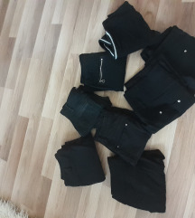 Komplet 8 para crni farmerki i pantoloni
