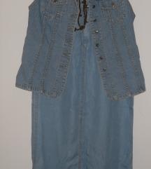 Komplet leten teksas kosulka i suknja vel M