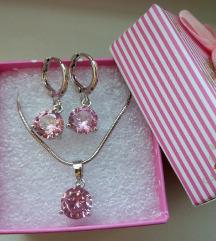 Нежно розев накит