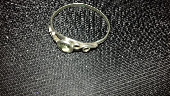 Srebren prsten 925so kamce