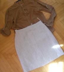 Komplet ZARA Kosulka+Suknja vel S-400 den