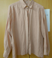Pudra roze 100% svila kosula