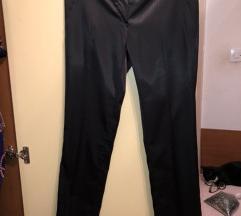 Saten crna pantalona