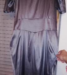 Satenski srebren fustan 💎
