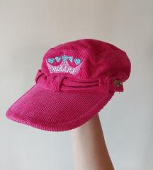 НОВА Детска розева плишана капа Wenice (2-3 год.)