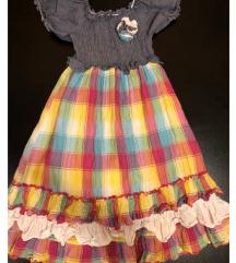Карирано фустанче