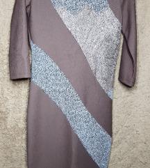 Елегантен фустан со полуотворен грб