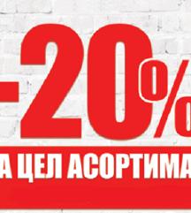 -20 % popust na site raboti