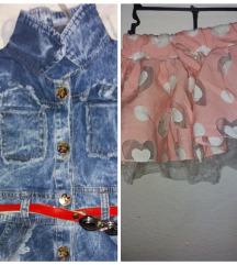 Suknja i teksas fustance