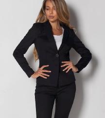 Барам струкирани црно женско сако 36