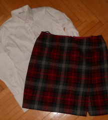 Volnena zimska suknja vel 44 -300 den