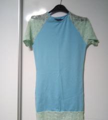 Plavo kratko fustance