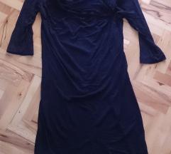 Црн фустан/туника со 3/4 ракави