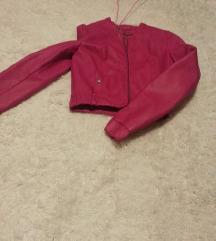 nova Zara pink kozna jakna M