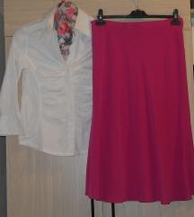 KOMPLET Nova suknja +kosula vel M - 300 den