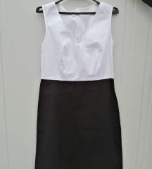 Црно бел фустан