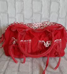 Црвена памучна ташна