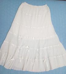 Bela dolga suknja
