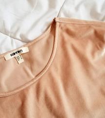 Бледо розева плиш блуза