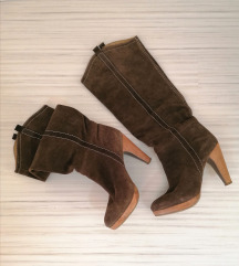 BERSHKA кожени чизми 40