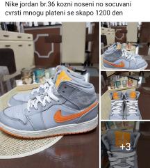 Nike jordan br.36 kozni